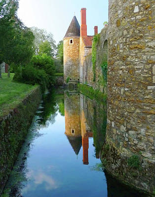 L'aubraie Tower Reflection Art Print