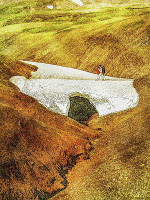 Digital Art - Laugavegur Ice Bridge by Frans Blok