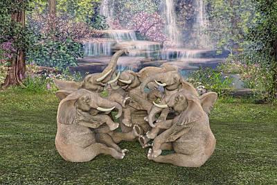 Animals Digital Art - Laugh a Little  by Betsy Knapp