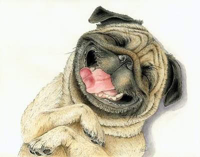 Pug Painting - Laugh Till You Cry by Julie Senf