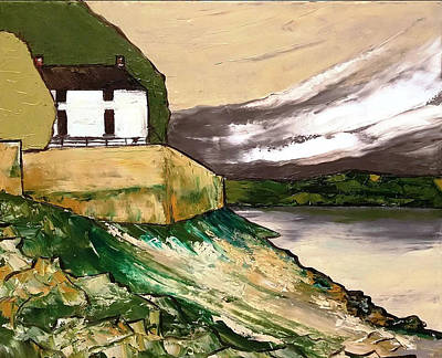 Painting - Laugharne Wales  by Courtney Wilding