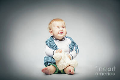 Photograph - Laughing Boy In Pastel Clothing. by Michal Bednarek