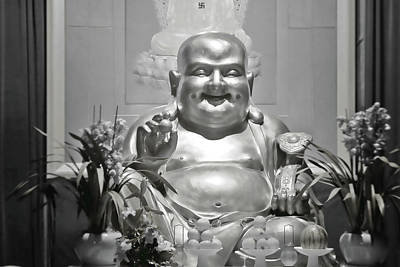 Buddha Statue Photograph - Laughing Buddha - A Symbol Of Joy And Wealth by Christine Till