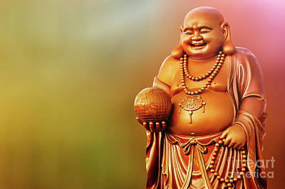 Photograph - Laughing Buddha by Charuhas Images
