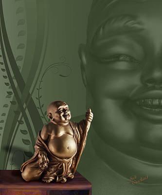 Photograph - Laughing Buddha by Judi Quelland