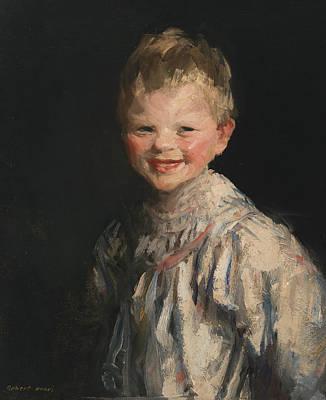 Laughing Child Art Print by Robert Henri