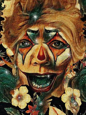 Digital Art - Laughing Clown by Artful Oasis