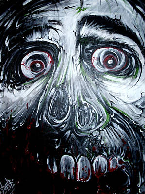 Trippy Painting - Laughing Dead by Sam Hane