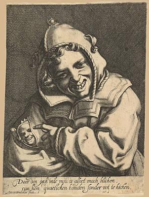 Drawing - Laughing Fool by Werner van den Valckert