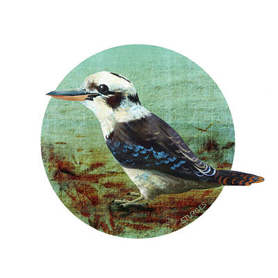 Digital Art - Laughing Kookaburra by Simon Sturge