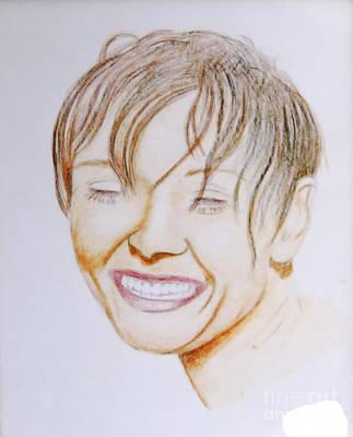 Cosmopolitan Drawing - Laughing Loretta by Stephen Brooks