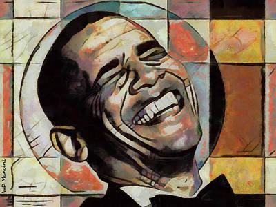 Laughing President Obama Art Print by WD Mancini