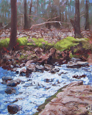 Painting - Laughing Stream In Winter by Carol Strickland