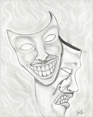 Crying Drawing - Laughing Tears by John Bainter