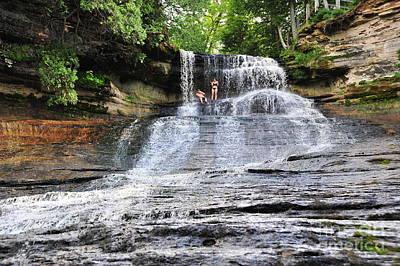 Fall Photograph - Laughing Whitefish Waterfall In Michigan by Terri Gostola