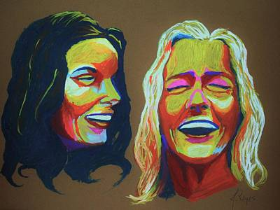 Painting - Laughter by Angel Reyes