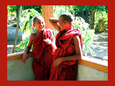 Photograph - Laughter At The Monastery, Myanmar by Kurt Van Wagner