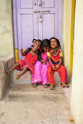 India Wall Art - Photograph - Laughter by Tim Gainey