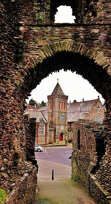 Photograph - Launceston Castle South Gatehouse by Richard Brookes