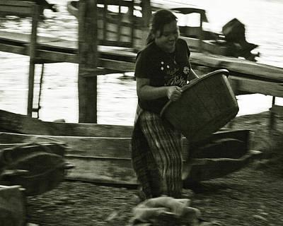 Panajachel Photograph - Laundry By The Lake In Guatemala by Tatiana Travelways