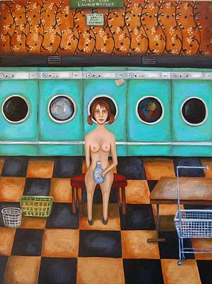 Laundry Day 4 Art Print by Leah Saulnier The Painting Maniac