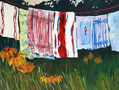 Painting - Laundry Day At Le Vieux by Tara Moorman