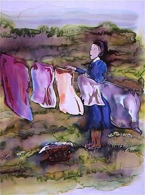 Laundry Day Art Print by Carolyn Doe