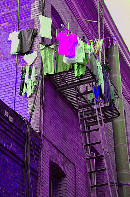 San Fransisco Photograph - Laundry Day Chinatown Sf by Vijay Sharon Govender
