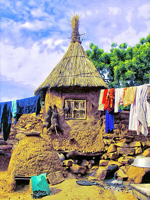 Photograph - Laundry Day - Dogon Village Mali by Dominic Piperata