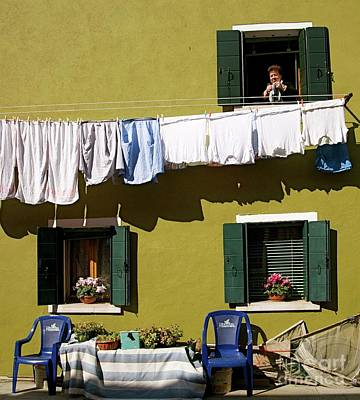 Photograph - Laundry Day In Burano by Louise Fahy