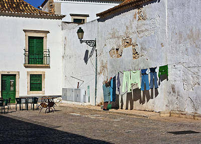 Photograph - Laundry Day In Estoi, Portugal by Tatiana Travelways