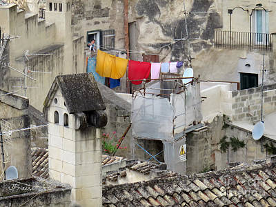 Laundry Day In Matera.italy Art Print