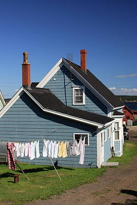Photograph - Laundry Day In Nova Scotia by Tatiana Travelways