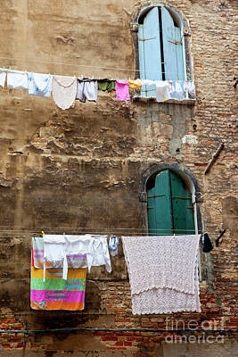 Photograph - Laundry Day In Venice by Brian Jannsen