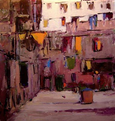 Laundry Day In Venice Art Print by R W Goetting