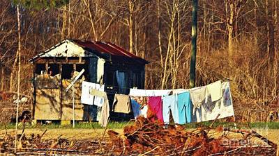 Photograph - Laundry Day Painterly by Paulette Thomas