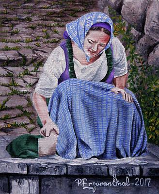 Painting - Laundry Day by Rezzan Erguvan-Onal