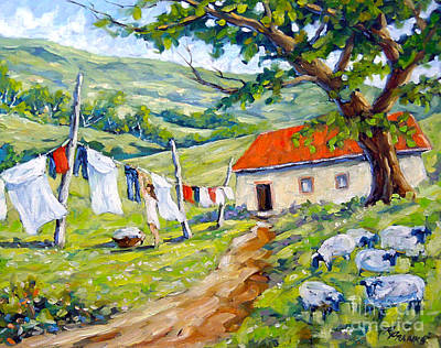 Laundry Painting - Laundry Day by Richard T Pranke