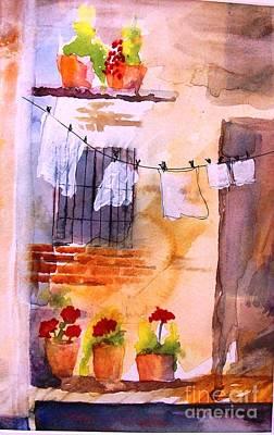 Laundry Day Art Print by Sandi Stonebraker