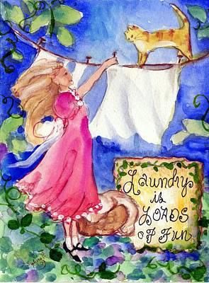 Laundry Painting - Laundry Day  by Sylvia Pimental