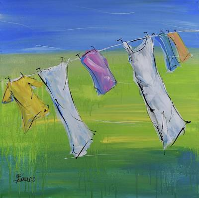 Painting - Laundry Day by Terri Einer