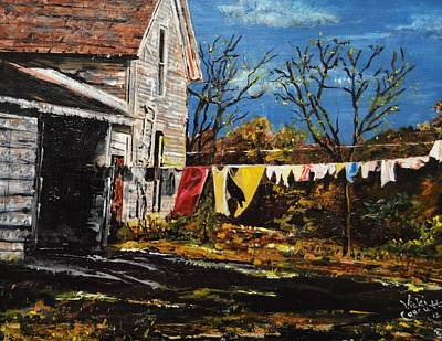 Laundry Painting - Laundry Day by Vicki Caucutt