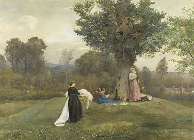 Laundry Painting - Laundry Day, West Somerset  by John William North