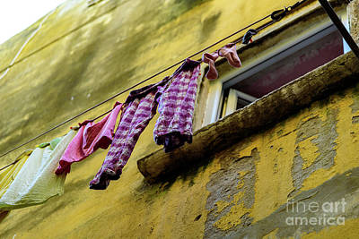 Photograph - Laundry Hanging In Rovinj, Croatia by Global Light Photography - Nicole Leffer