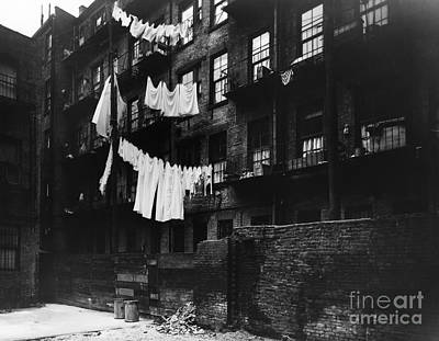 Laundry Hanging To Dry In City, C.1930s Art Print by H. Armstrong Roberts/ClassicStock