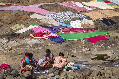 Photograph - Laundry by Hitendra SINKAR