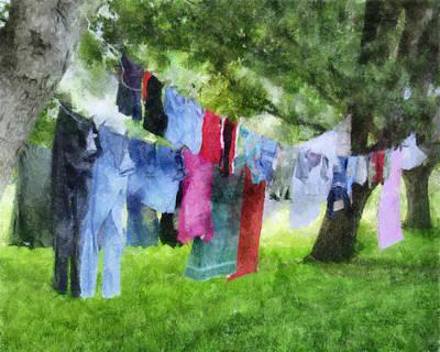 Laundry Line Art Print