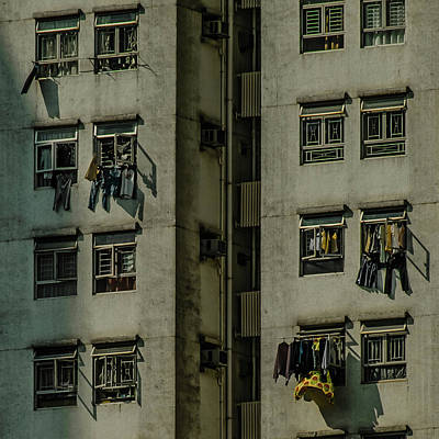 Photograph - Hong Kong - Laundry by Mark Forte