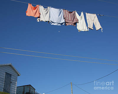 Photograph - Laundry Morning In Fogo Island, Newfoundland by Tatiana Travelways
