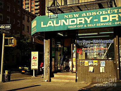 Photograph - Laundry - Time - Sun And Shadow by Miriam Danar